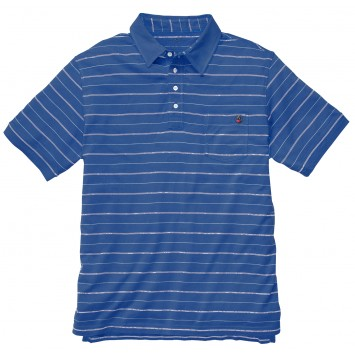 Pocket Polo: Navy Stripe